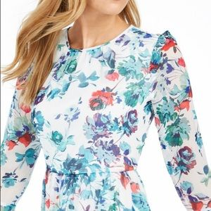 Printed bell-sleeve A-Line Dress